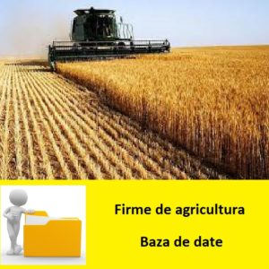 baza de date firme de agricultura