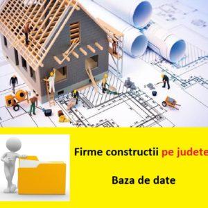 baza de date firme constructii judete