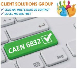 baza de date firme companii CAEN 6832