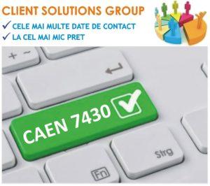 baza de date firme companii CAEN 7430