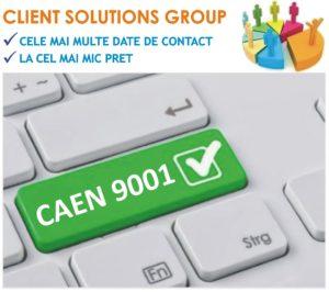 baza de date firme companii CAEN 9001