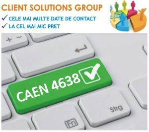 baza de date firme companii CAEN 4638