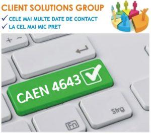 baza de date firme companii CAEN 4643