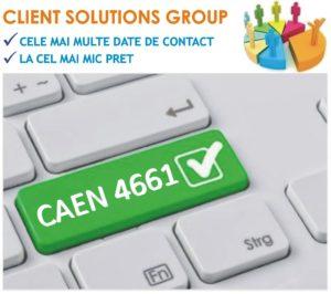 baza de date firme companii CAEN 4661
