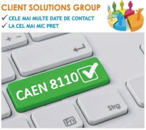 baza de date firme companii CAEN 8110